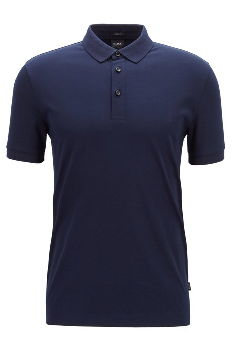 ece271de BOSS - Polo shirt with structured collar and cuffs