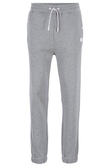 Pantalon Relaxed Fit en jersey resserré au bas des jambes, Gris chiné
