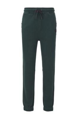Pantalon Relaxed Fit en jersey resserré au bas des jambes, Vert
