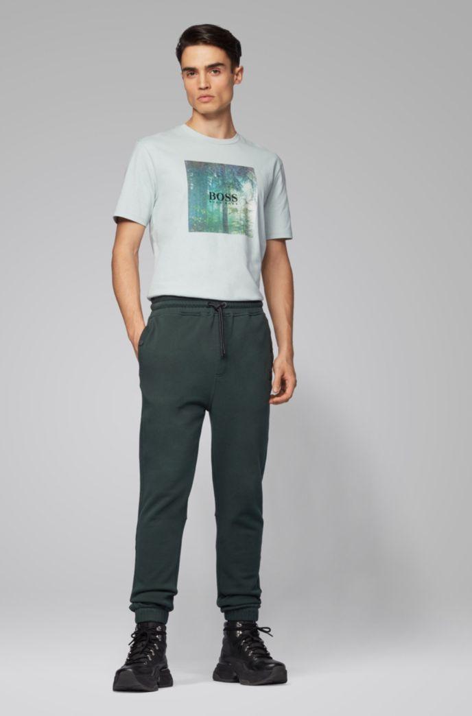Relaxed-Fit Hose aus Baumwoll-Jersey mit Beinbündchen