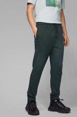 Relaxed-Fit Hose aus Baumwoll-Jersey mit Beinbündchen, Grün