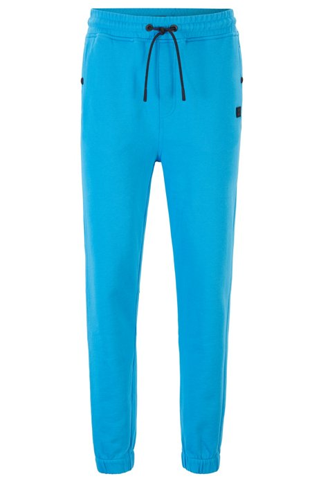 Relaxed-fit jersey trousers with cuffed hems, Blue