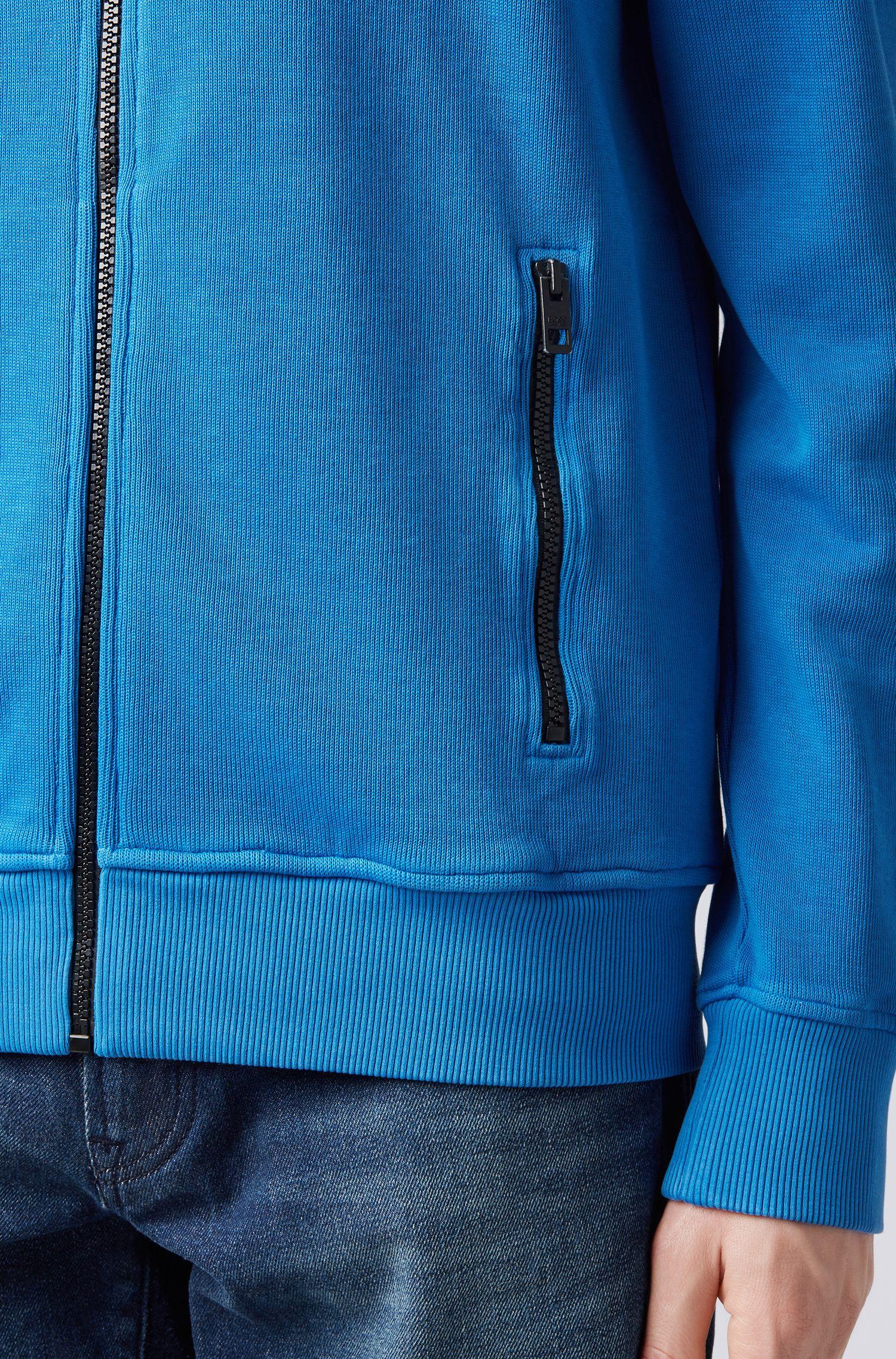 Veste Relaxed Fit en jersey de coton molletonné, Bleu vif