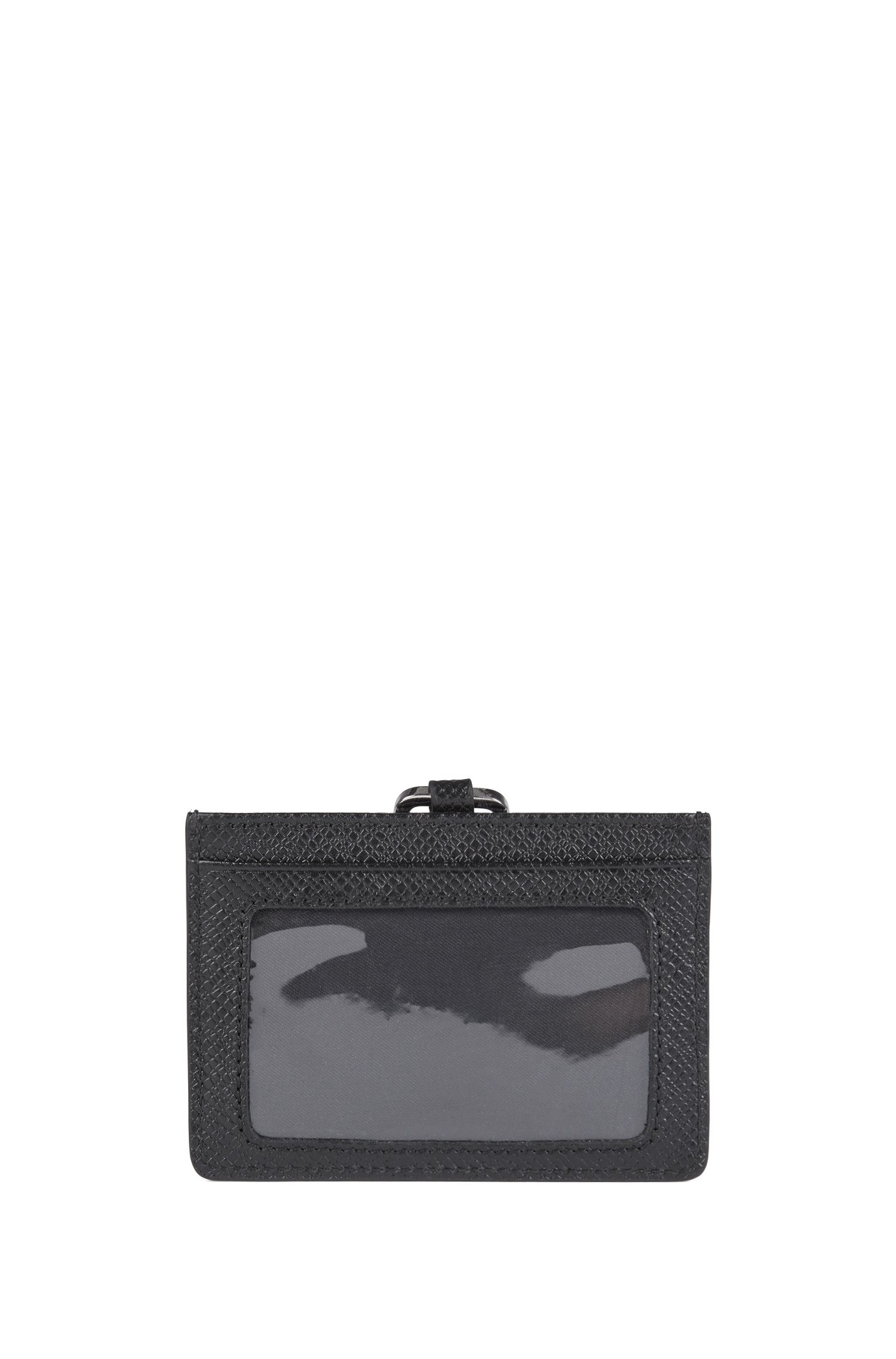 Signature Collection card holder with ID pocket and strap, Black