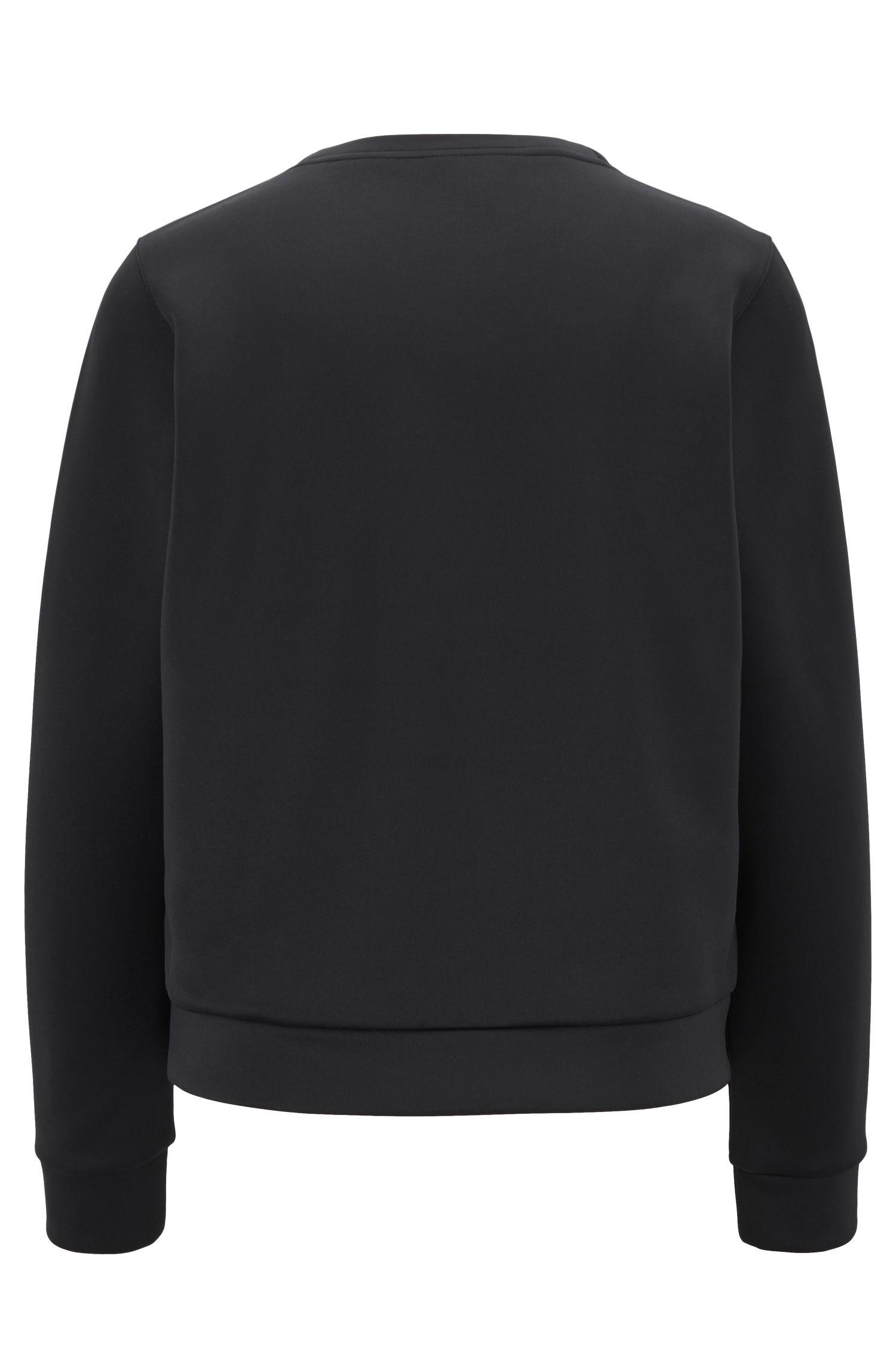 Sweatshirt mit Rundhalsausschnitt und Jeremyville-Print, Schwarz