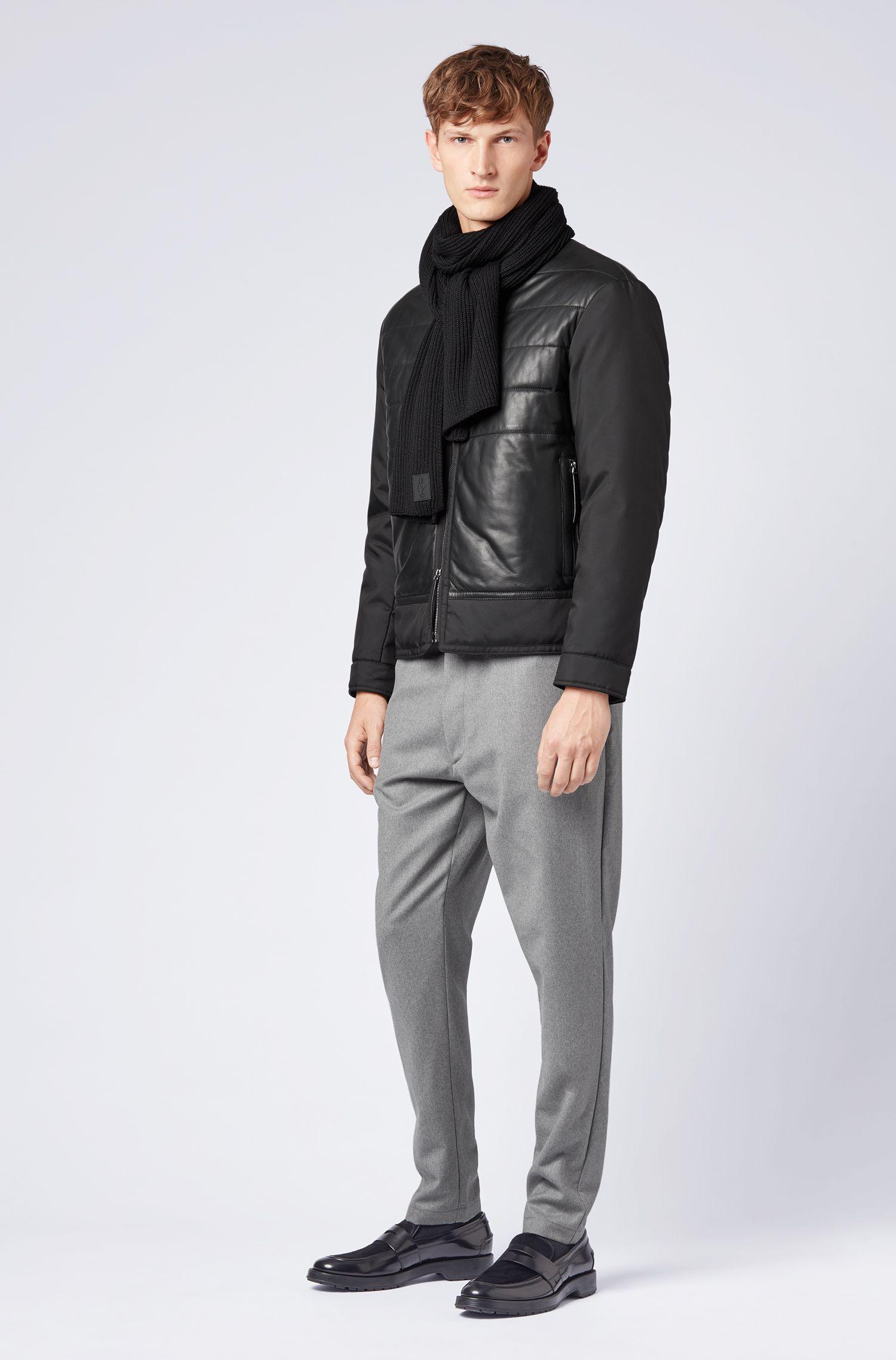 Écharpe en édition limitée en pure laine avec étiquette Jeremyville, Noir