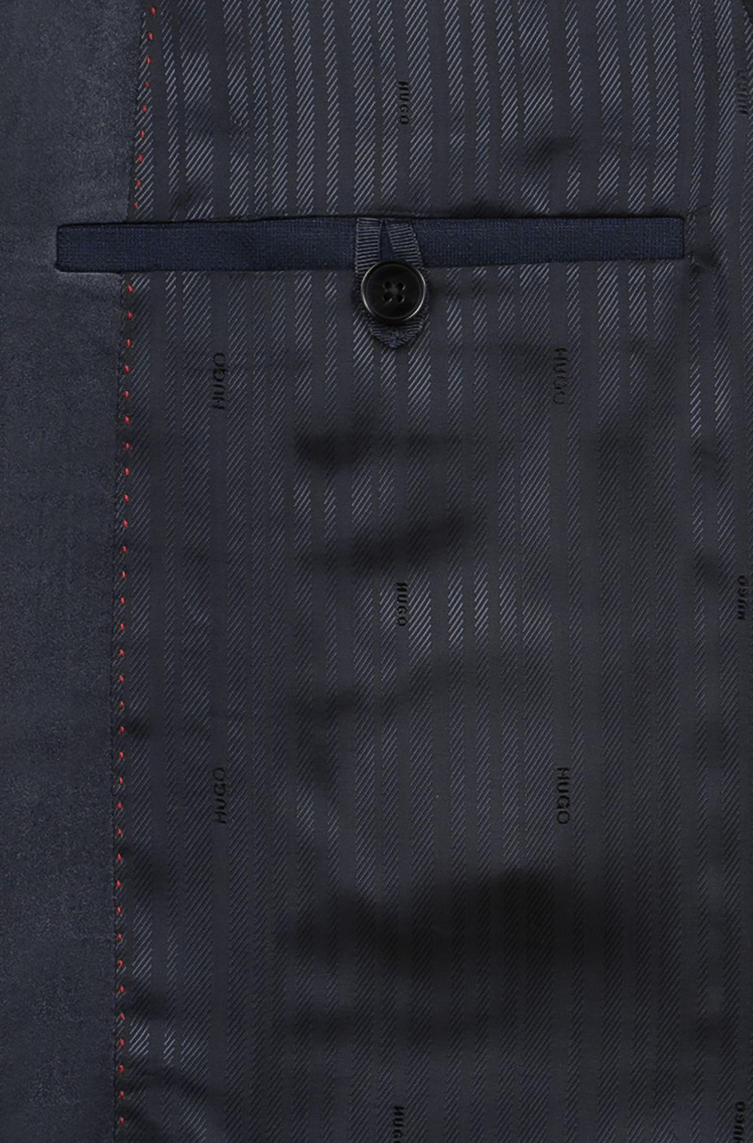 Traje de noche slim fit microestampado con detalle de seda, Azul
