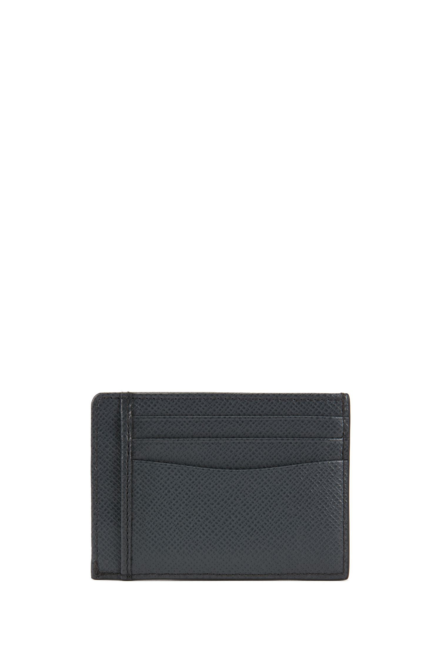 Signature Collection card case in printed palmellato leather, Dunkelgrau