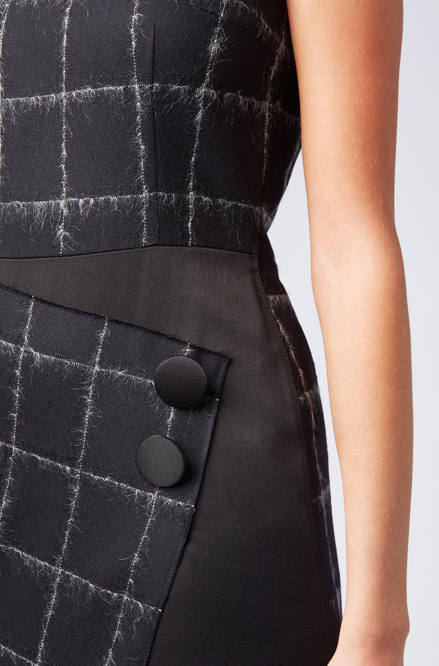 Robe ajustée Collection Gallery en laine mélangée à motif à carreaux, Fantaisie