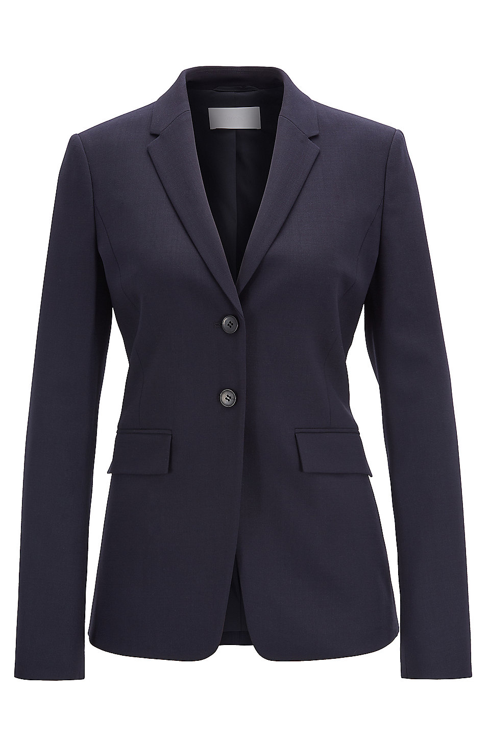 05cf2bd63d BOSS - Regular-fit jacket in stretch virgin wool