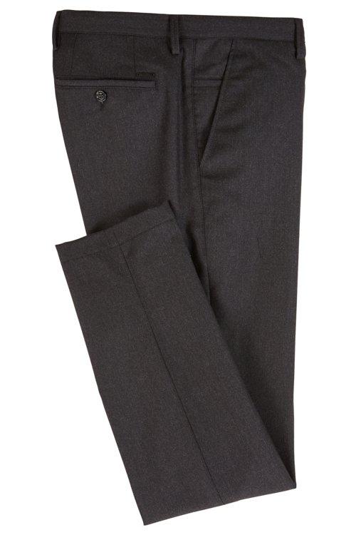 Hugo Boss - Pantalones slim fit en franela de lana virgen jaspeada - 3