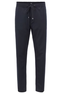 Relaxed-Fit Hose aus Schurwoll-Flanell, Blau