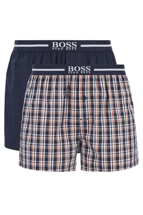 Hugo Boss - Zweier-Pack Boxershorts aus Baumwolle mit Logo am Bund - 1