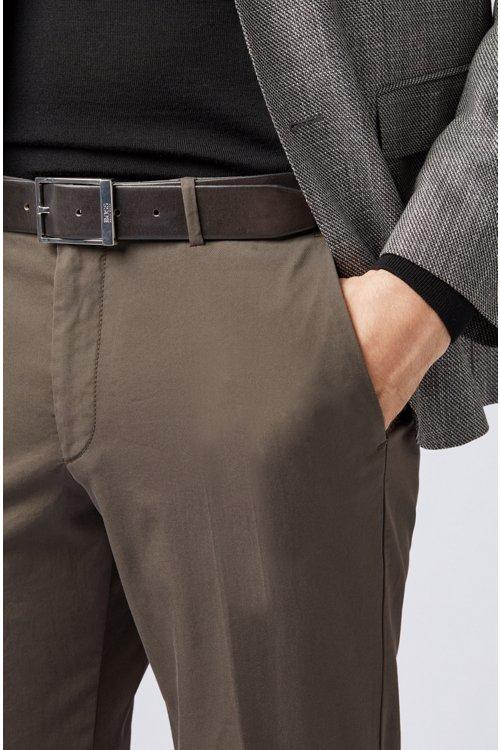 Hugo Boss - Gürtel aus pflanzlich gegerbtem Leder mit Dornschließe - 3