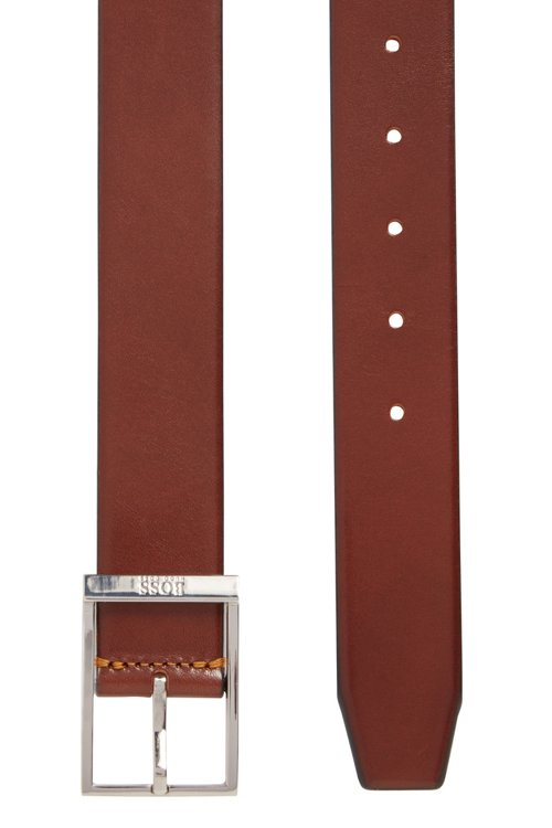 Hugo Boss - Pin-buckle belt in vegetable-tanned leather - 4