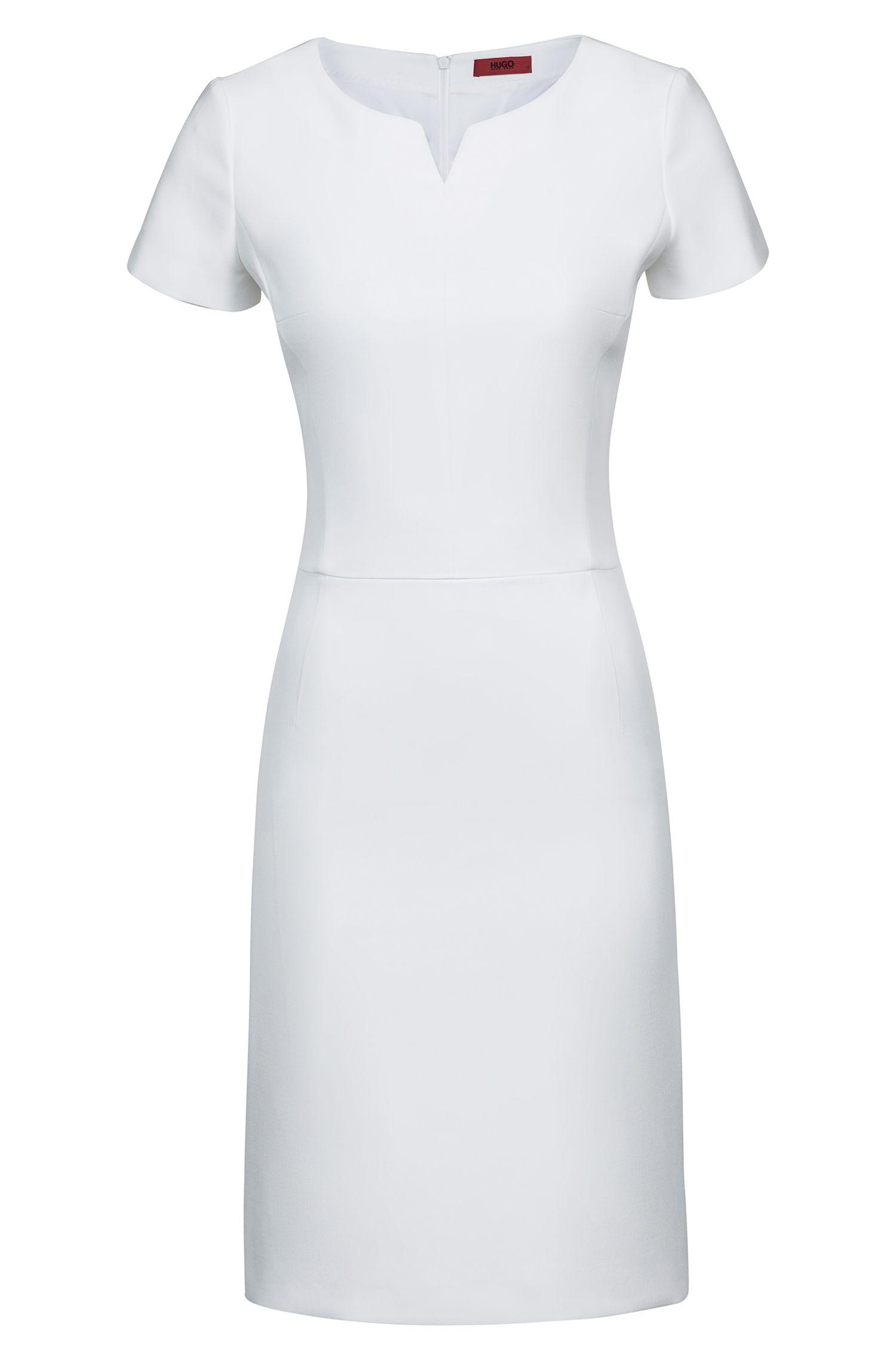 Vestito business aderente a maniche corte in tessuto elasticizzato