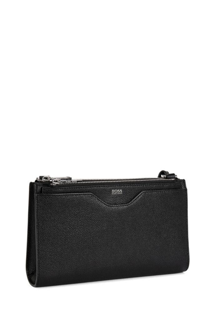 Mini handbag in grained Italian leather