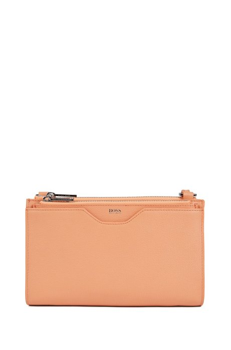 Mini sac à main en cuir italien grainé, Orange