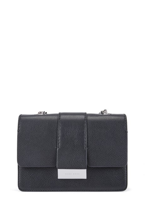 033756a5e69 BOSS - Crossbody bag in grained Italian leather with chain detail