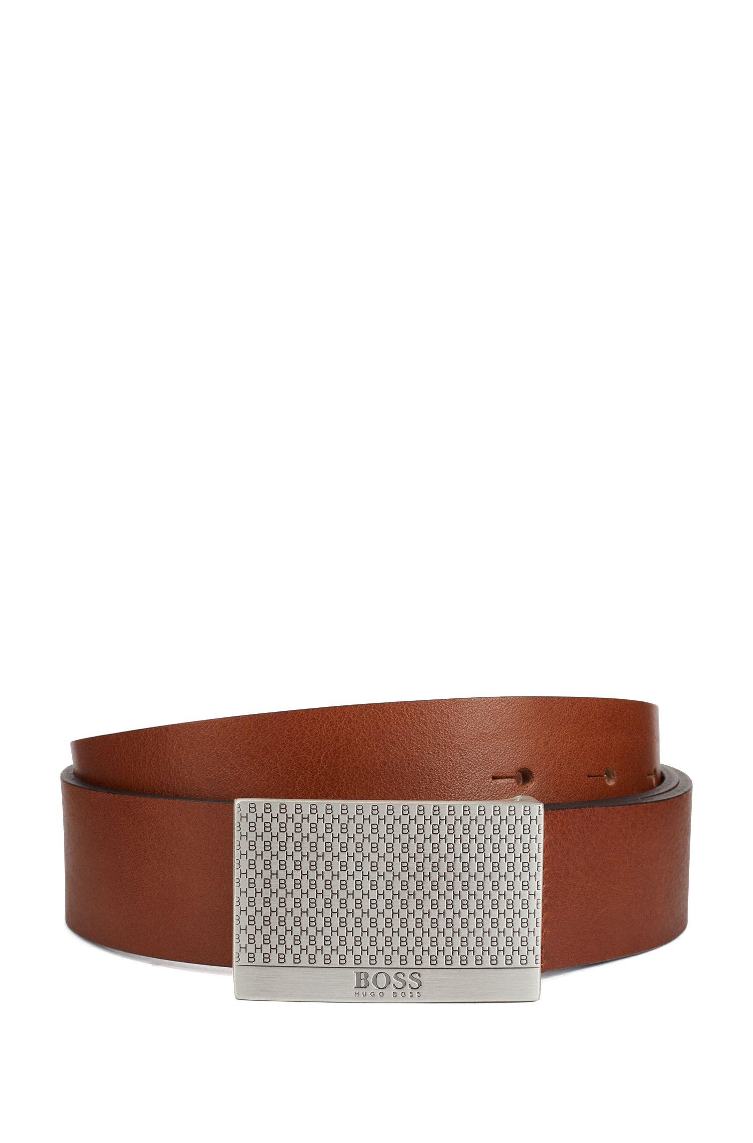 Hugo Boss - Ledergürtel mit Koppelschließe im Monogramm-Design - 1