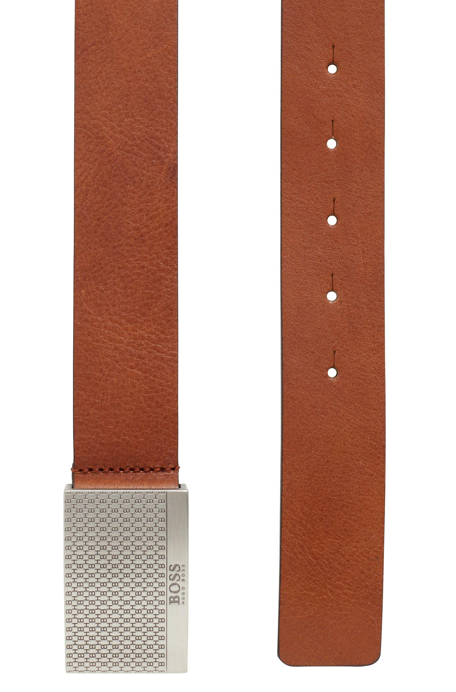 Hugo Boss - Ledergürtel mit Koppelschließe im Monogramm-Design - 3