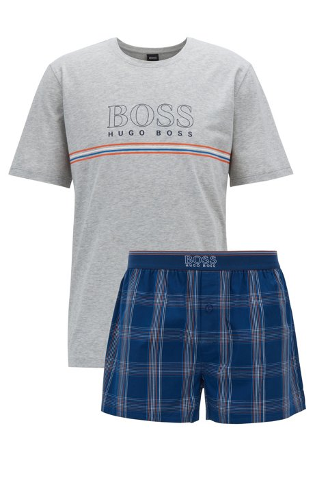 91d00e745e BOSS - Short pyjama set in single jersey with logo details