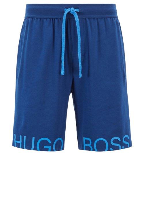 Hugo Boss - Shorts de pijama con logo estampado en contraste - 1