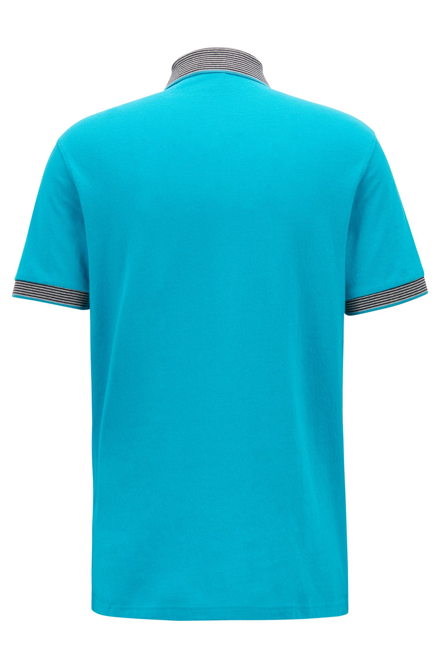 Polo relaxed fit con stampa effetto scamosciato, Blu