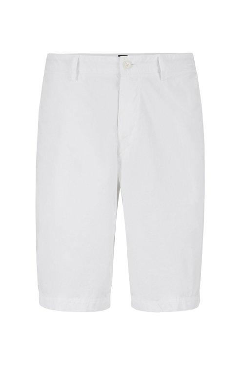 Hugo Boss - Shorts regular fit en sarga de algodón elástico italiano - 1