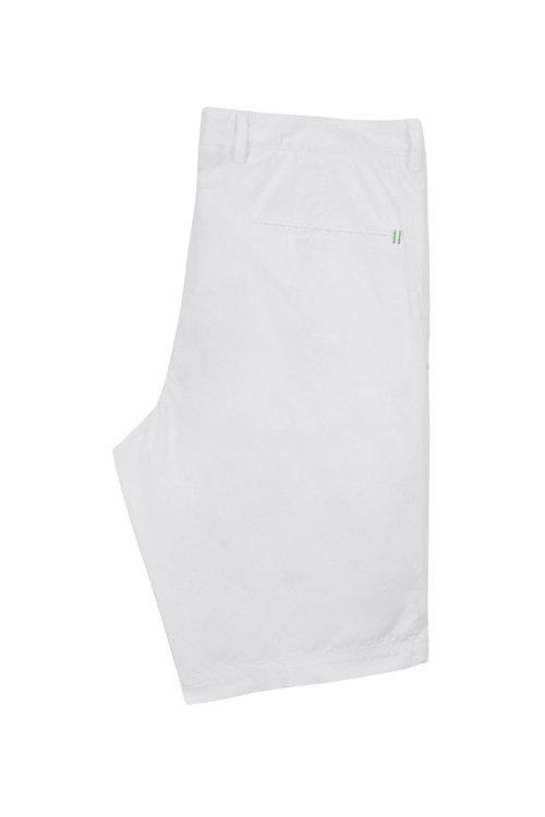 Hugo Boss - Shorts regular fit en sarga de algodón elástico italiano - 4