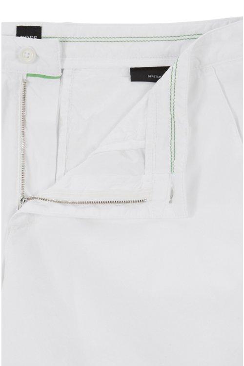 Hugo Boss - Shorts regular fit en sarga de algodón elástico italiano - 5