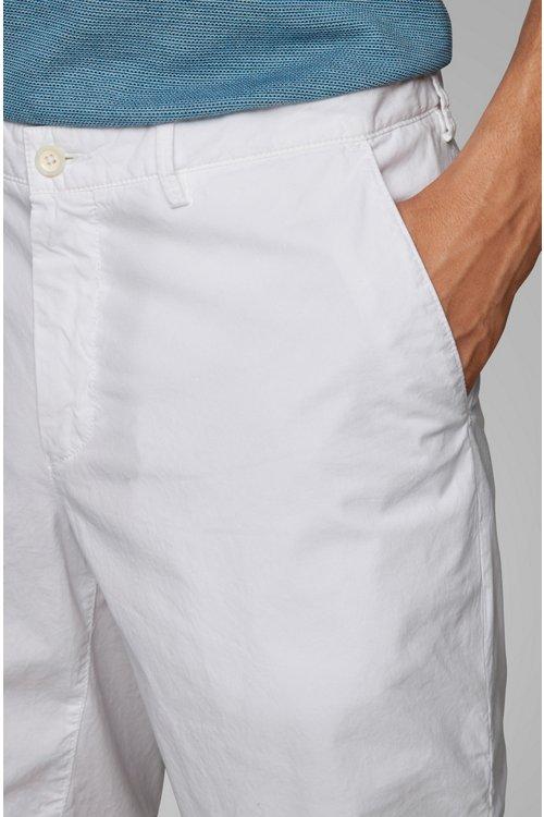 Hugo Boss - Shorts regular fit en sarga de algodón elástico italiano - 3