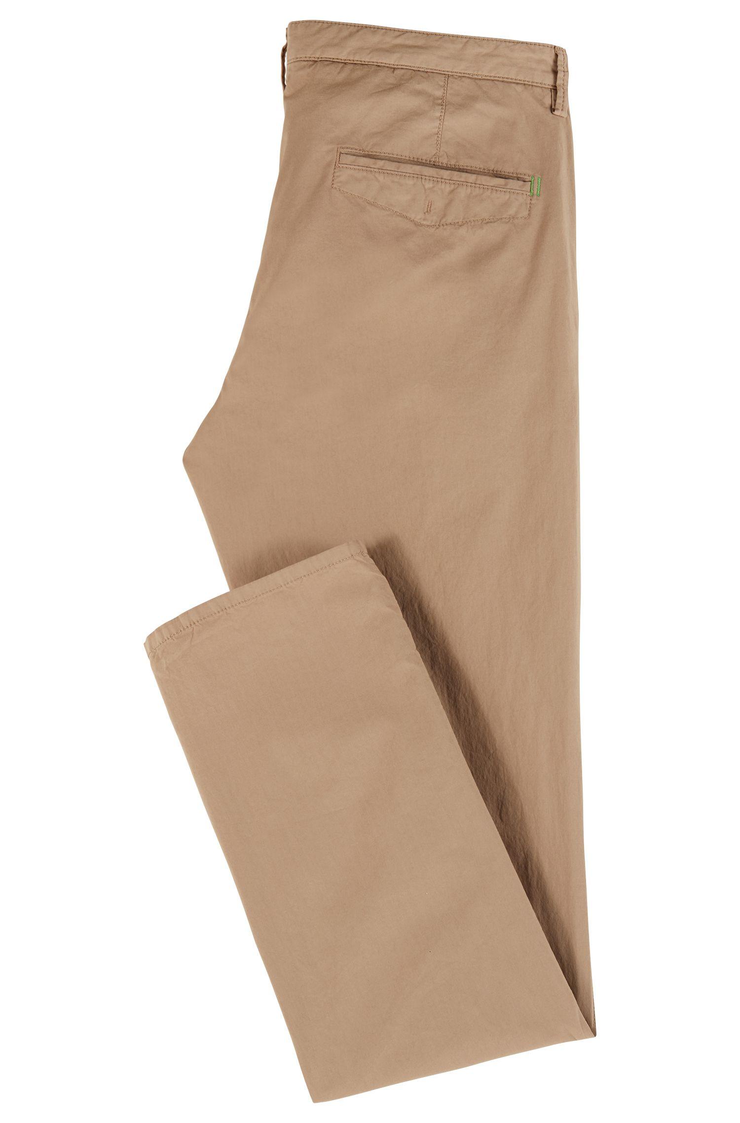 Lichte, slim-fit broek van Italiaanse stretchkatoen, Beige
