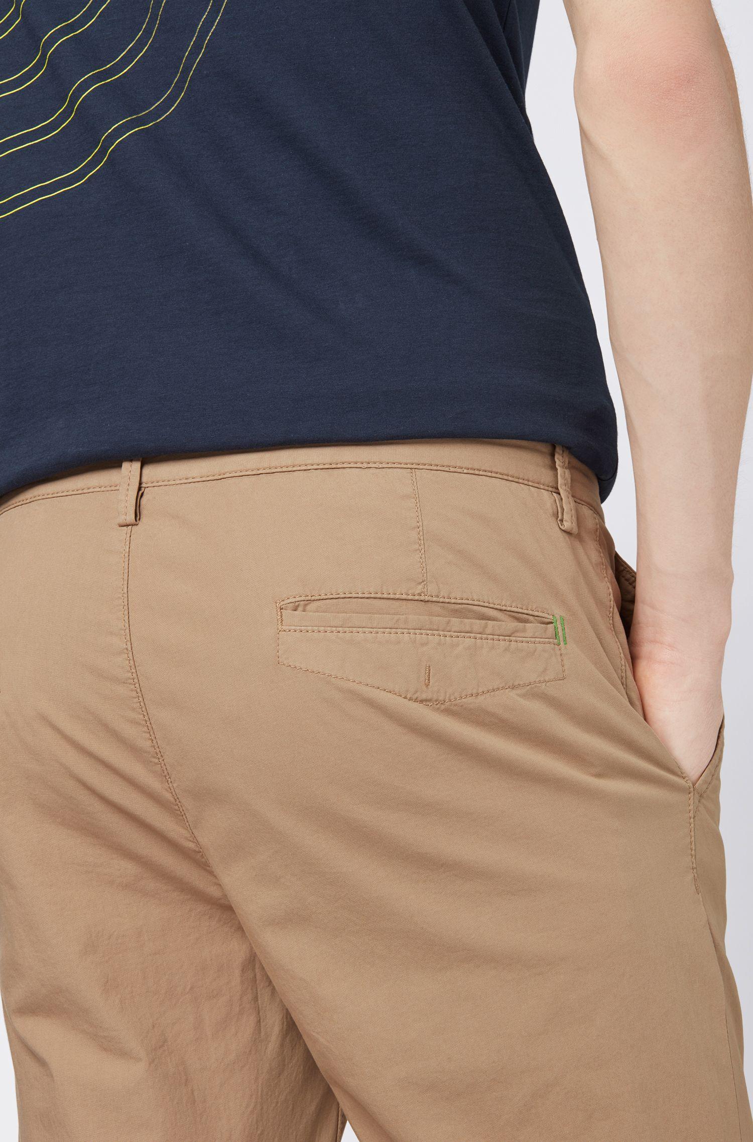 Leichte Slim-Fit Hose aus italienischer Stretch-Baumwolle, Beige