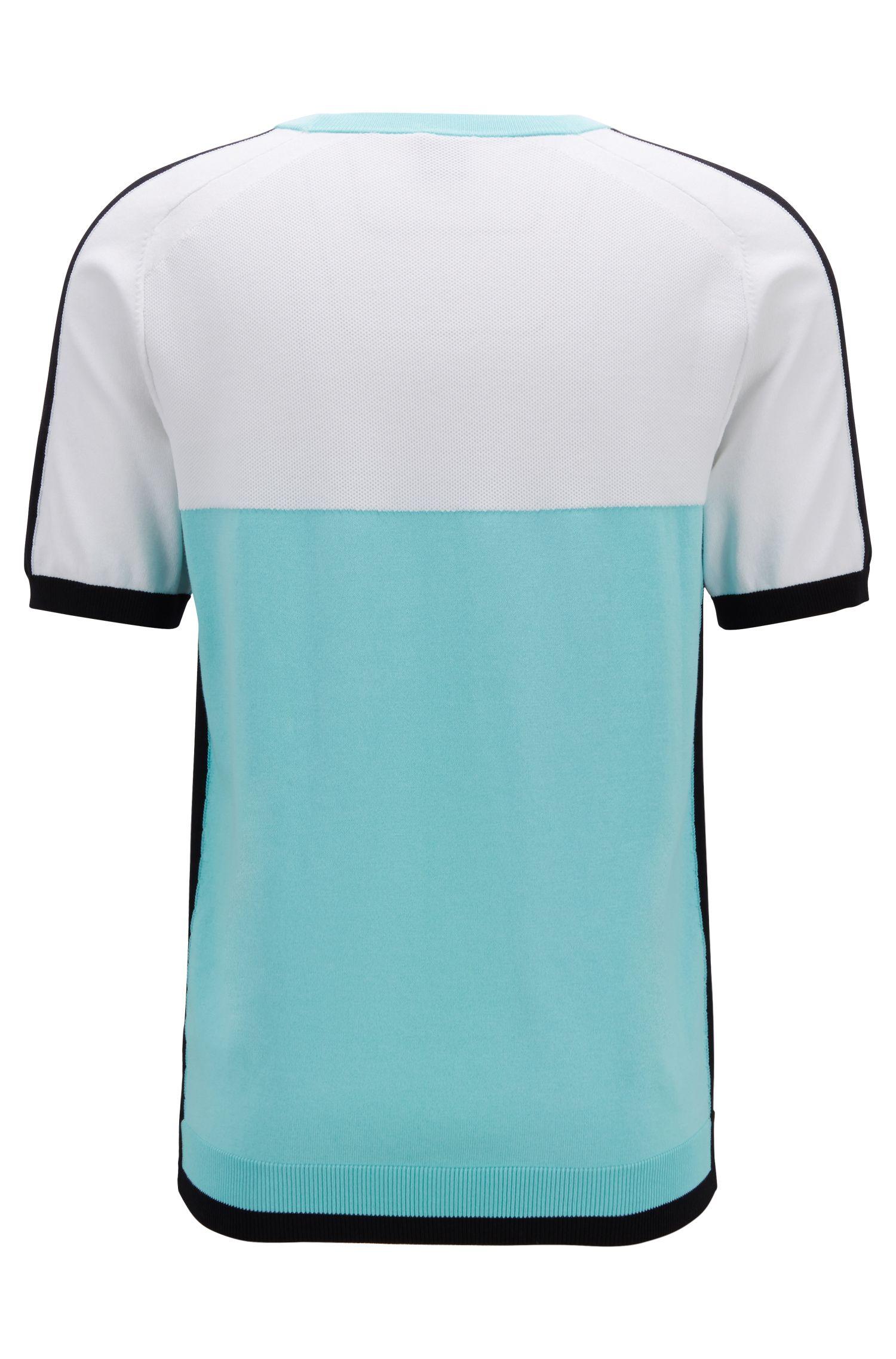 Regular-fit trui van een katoenmix , Blauw