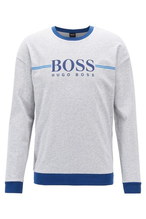 Hugo Boss - Loungewear-Sweatshirt aus Baumwolle mit Logo-Print - 1