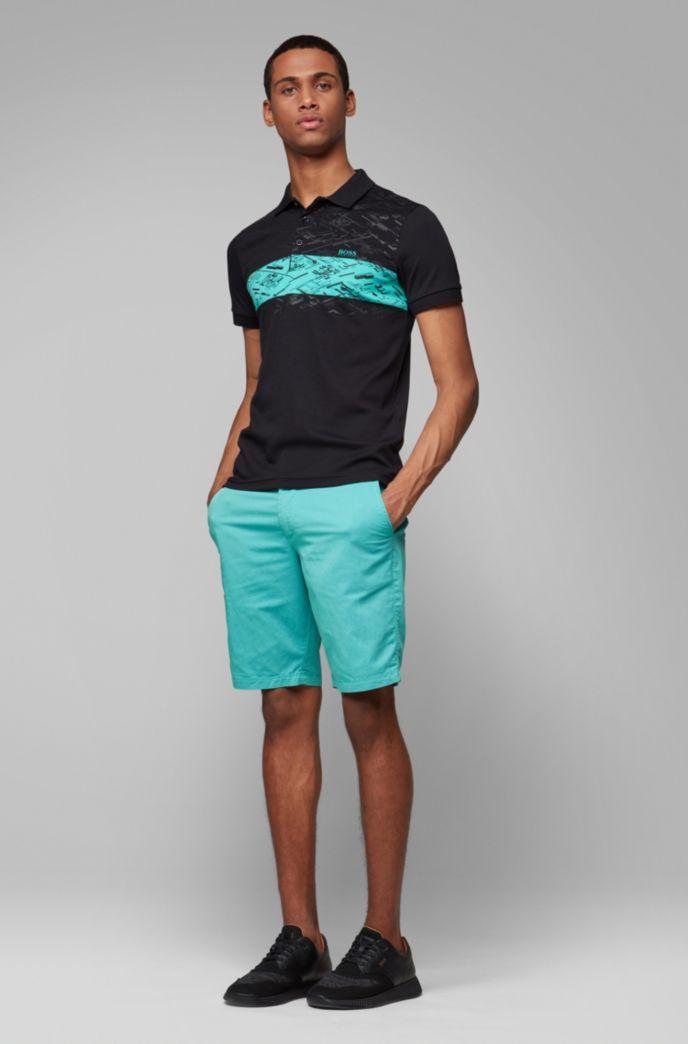 Slim-fit shorts in two-tone Italian twill