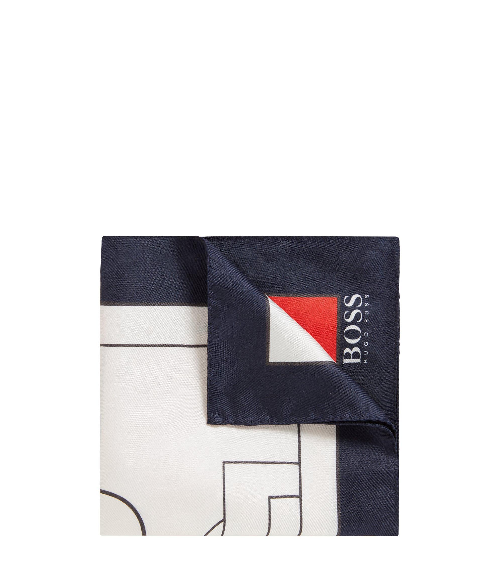 Pochette en soie aux couleurs du drapeau national, Bleu foncé