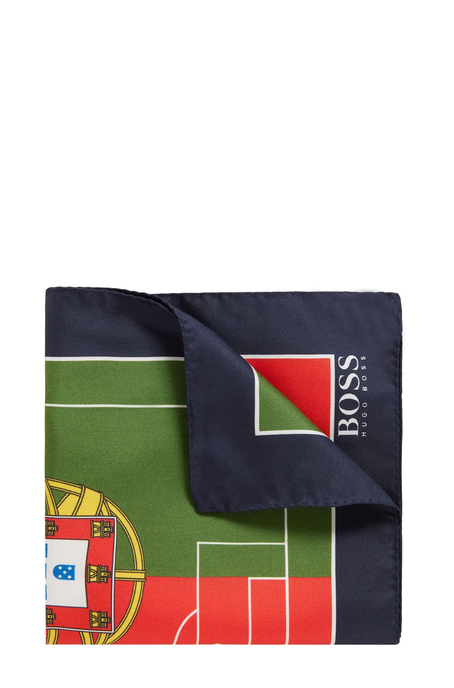Pochette en soie aux couleurs du drapeau national