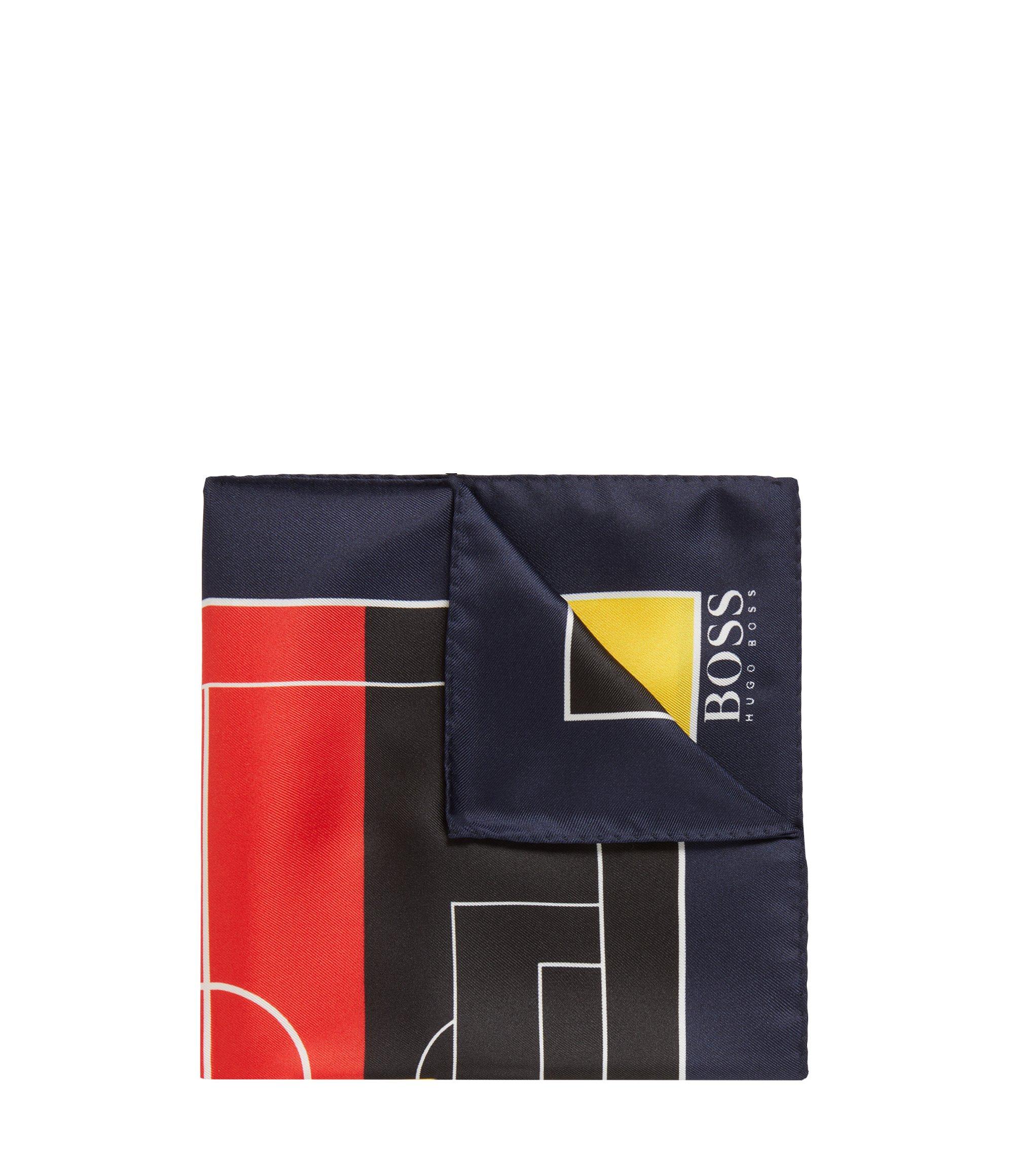 Einstecktuch aus Seide in den Farben der Landesflaggen, Dunkelblau