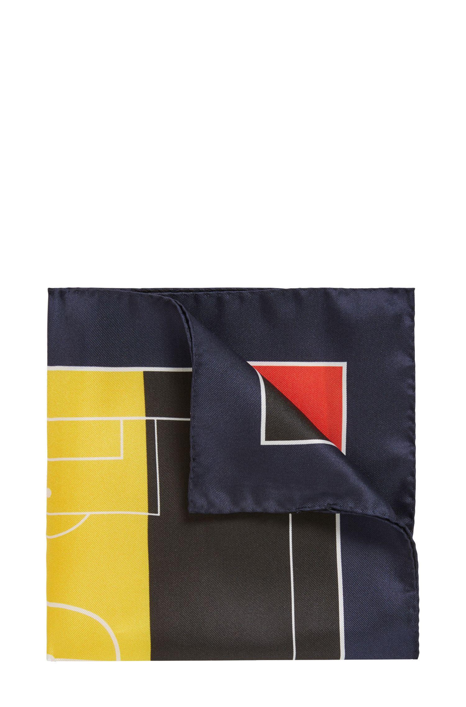 Einstecktuch aus Seide in den Farben der Landesflaggen