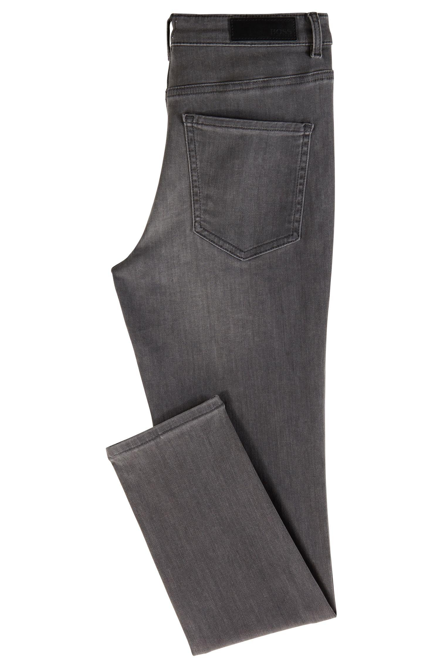 Jeans Skinny Fit en denim power-stretch gris, Gris