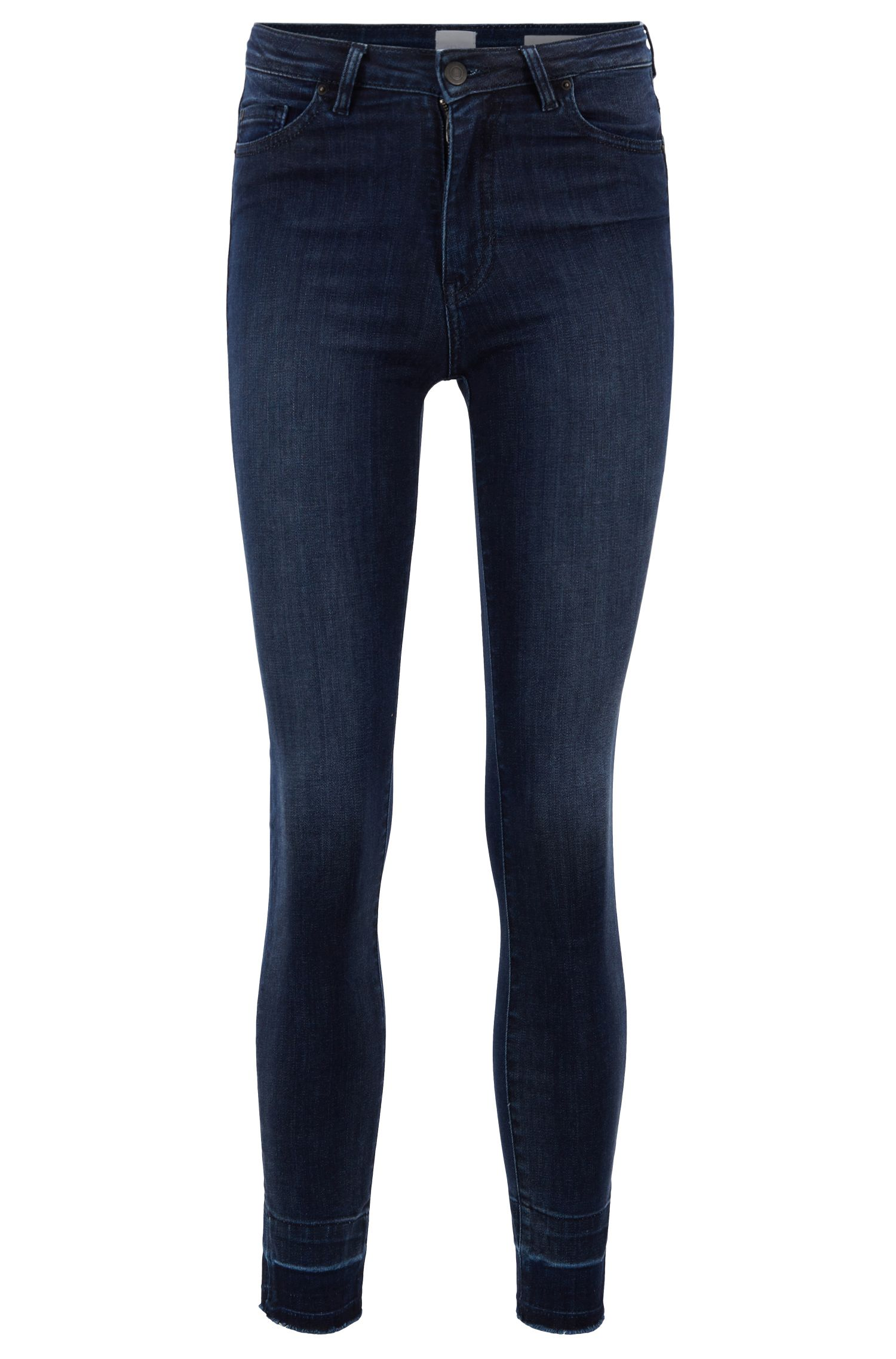 Skinny-fit jeans in super-stretch red-cast denim, Dark Blue