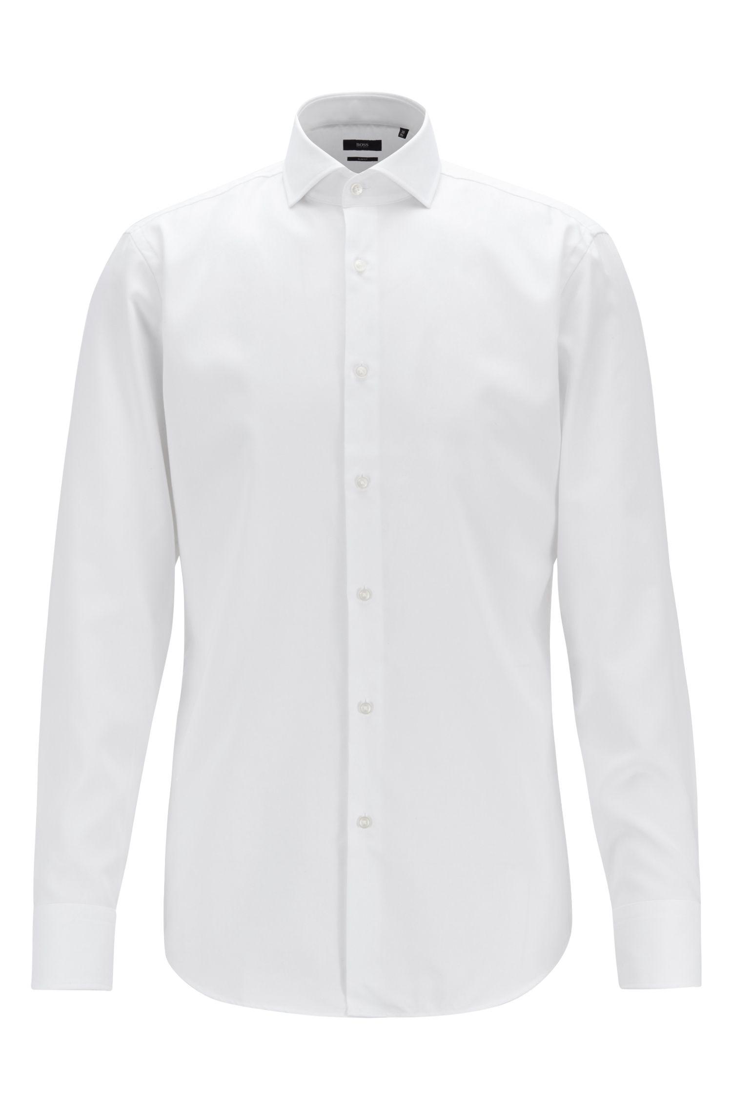 Beperkt verkrijgbaar, slim-fit overhemd van katoen met Jeremyville-motief, Wit