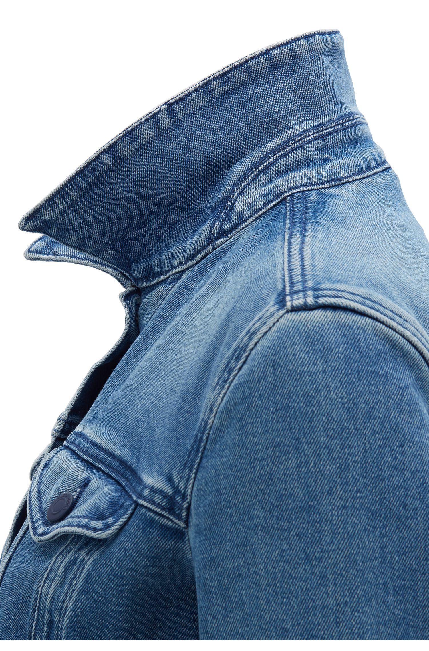 Jacke im Trucker-Stil aus Denim in Vintage-Optik, Blau