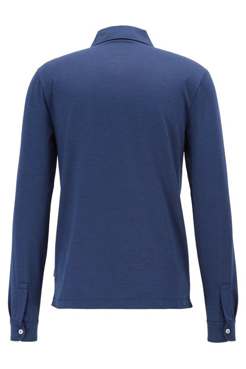 Hugo Boss - Slim-fit polo shirt in Oxford cotton with shark collar - 3