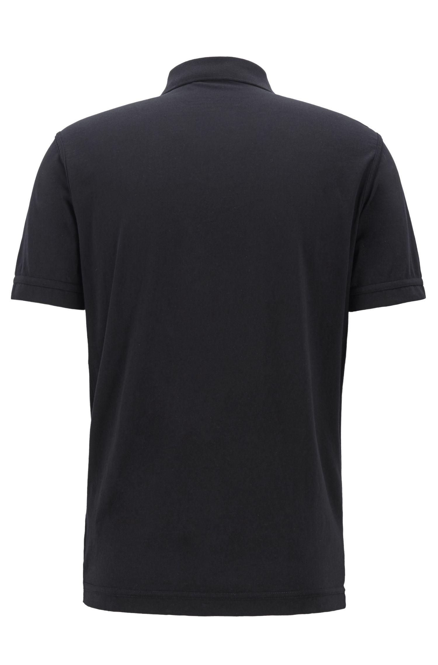 Relaxed-fit polo van ecovriendelijke recot²® katoenen jersey, Zwart