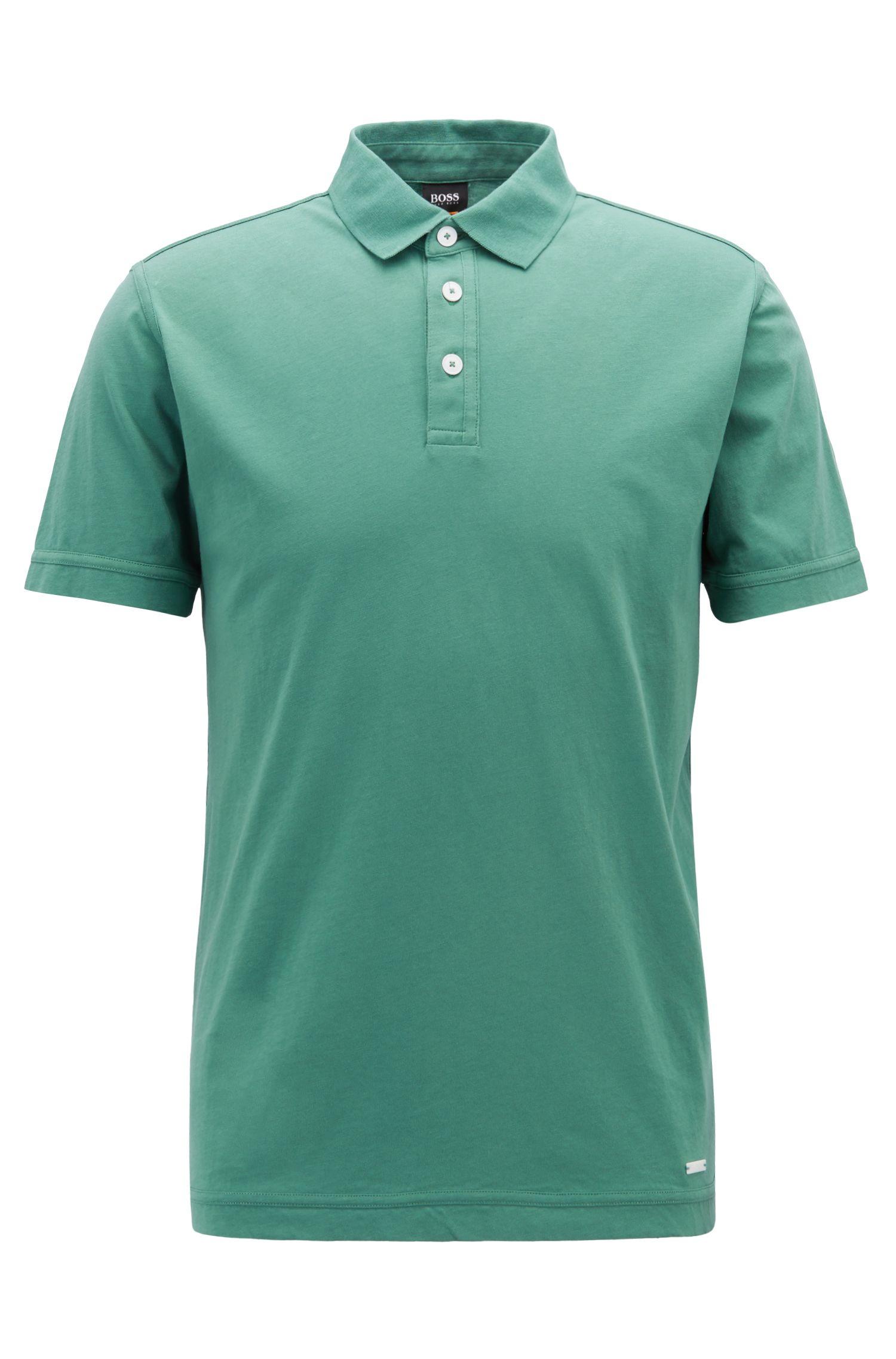 Polo relaxed fit en punto de algodón recot²® alemán, Verde