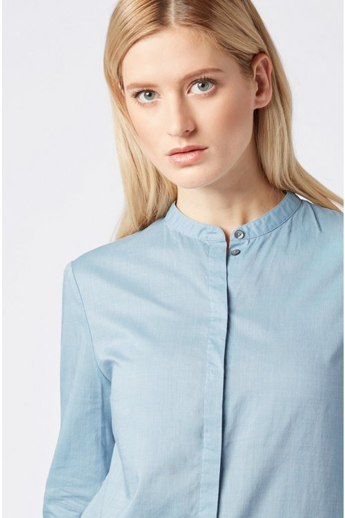 Hugo Boss - Relaxed-Fit Bluse aus Baumwoll-Mix - 4