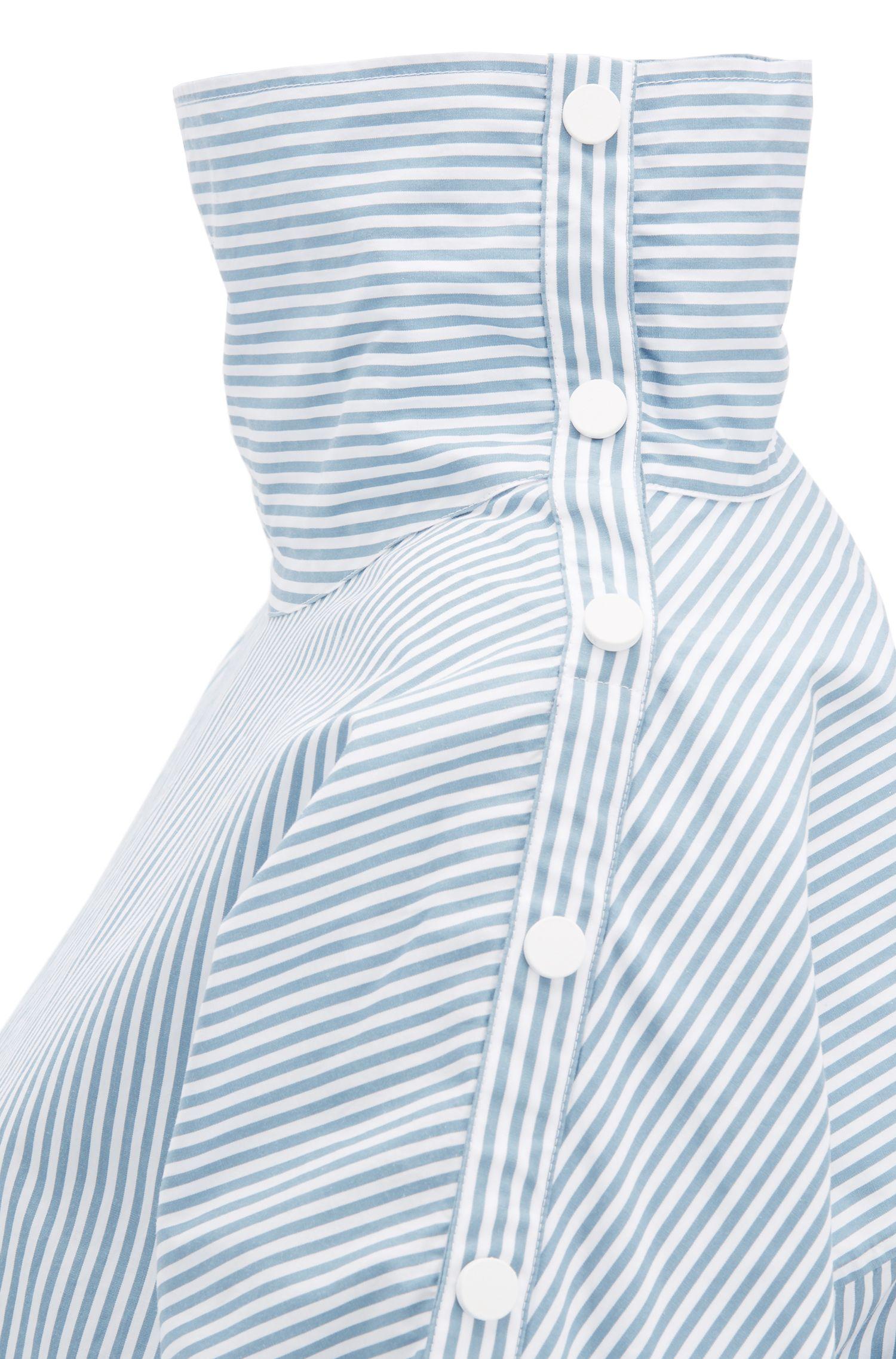 Regular-Fit Bluse mit Statement-Kragen, Blau